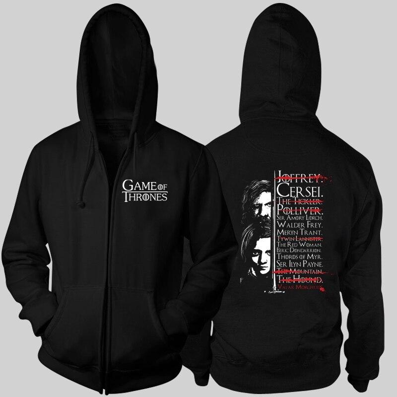 HODOR Arya Stark the Hound Sandor Clegane HODOR HOLD THE DOOR f*ck the king boys male man full zip hooded Cardigan