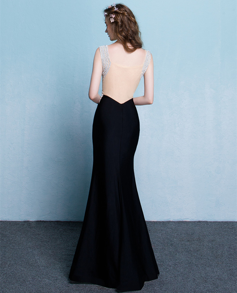 Elegant V Neck Crystal Spandex Floor Length Ballkleider Evening ...