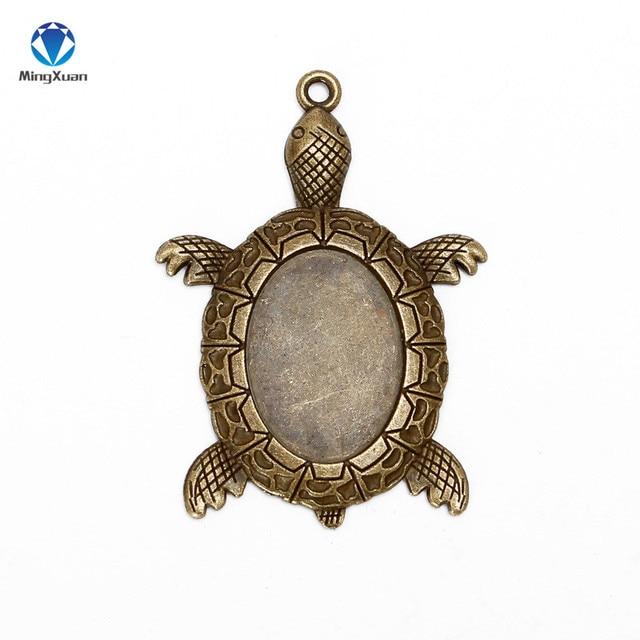 Фото mingxuan 10 шт черепаховая подвеска с бронзовой филигранью под цена