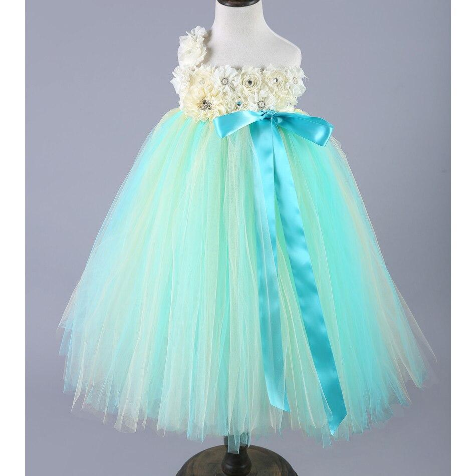 Girls Teenage Birthday Party Dress Elegant Floral Princess Ball Gown ...