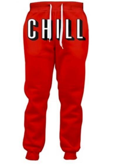 Netflix и Холод Бегунов Женщины Повседневные Брюки Мужчины Мужская Jogger Штаны Полная Длина 3d Печатных Брюки Модной Одежды