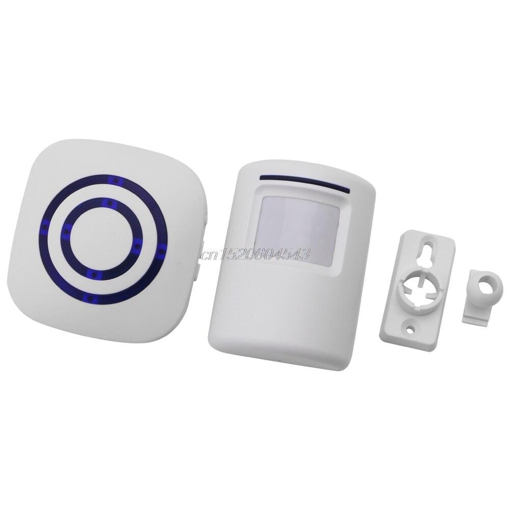 Wireless Motion Sensor Detector Gate Entry Door Bell Welcome Chime Alert Alarm EU/US Plug For Choose R02 Whosale&DropShip