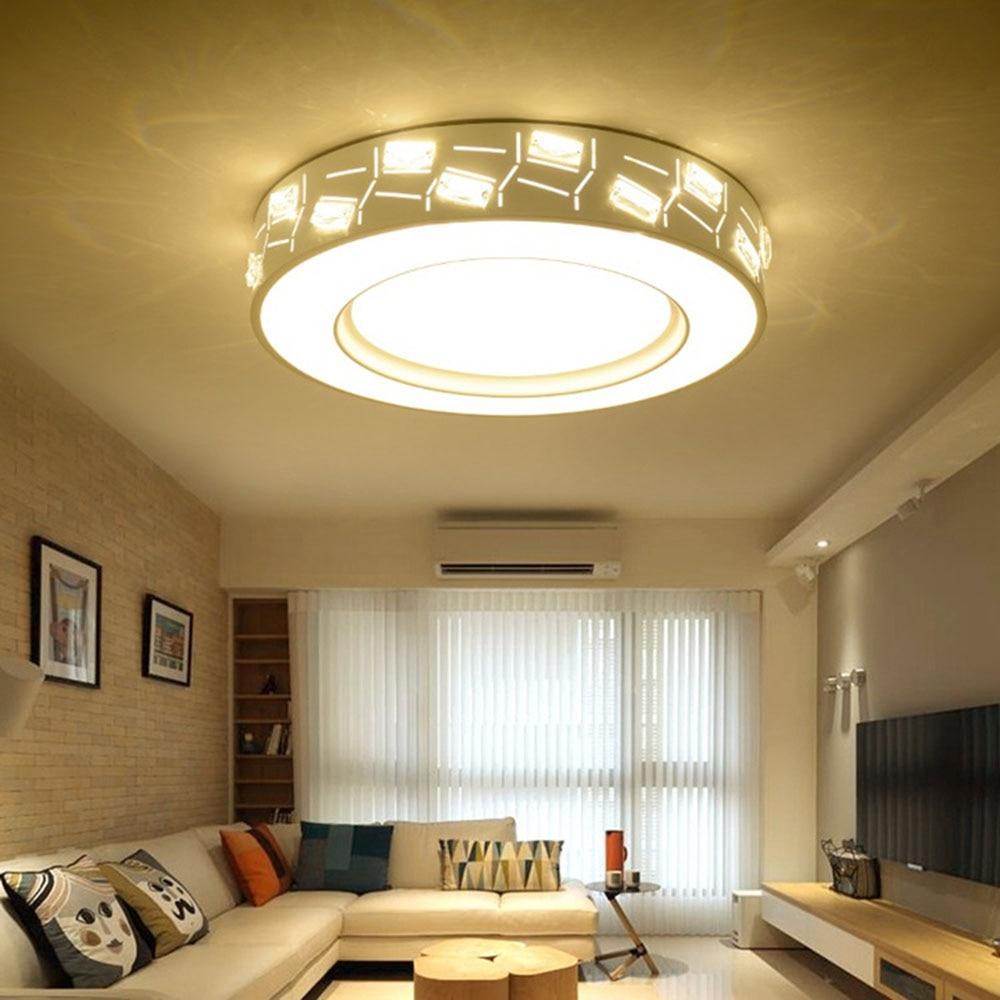 Modern Led Ceiling Lights 30-40W Modern Simple Led Ceiling Lights for Living Room 110-220v Flush Mount Ceiling Light Luminaire