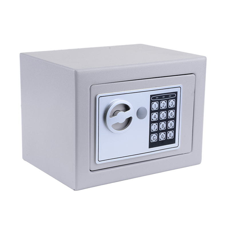 Sliver Digital Electronic Safe Security Box Fireproof Wall Anchoring Safe Deposit Box for Money Jewelry Cash Batteries