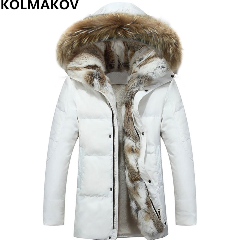 2018 winter   down     coats   mens thicken Parka Jacket fluff lining overcoat hat detachable Parkas plus size S-5XL warm outwear male