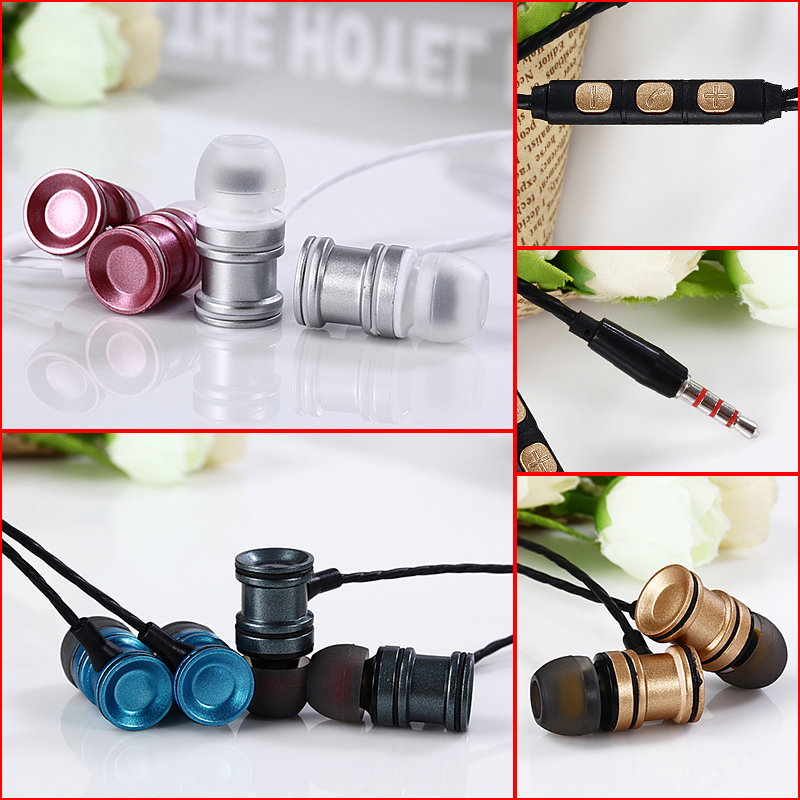 CY-019 In Ear Earbuds 3.5mm Sport Earphones Stereo Earphones Volume Control with Mic for Samsung MP3 MP4 fone de ouvido
