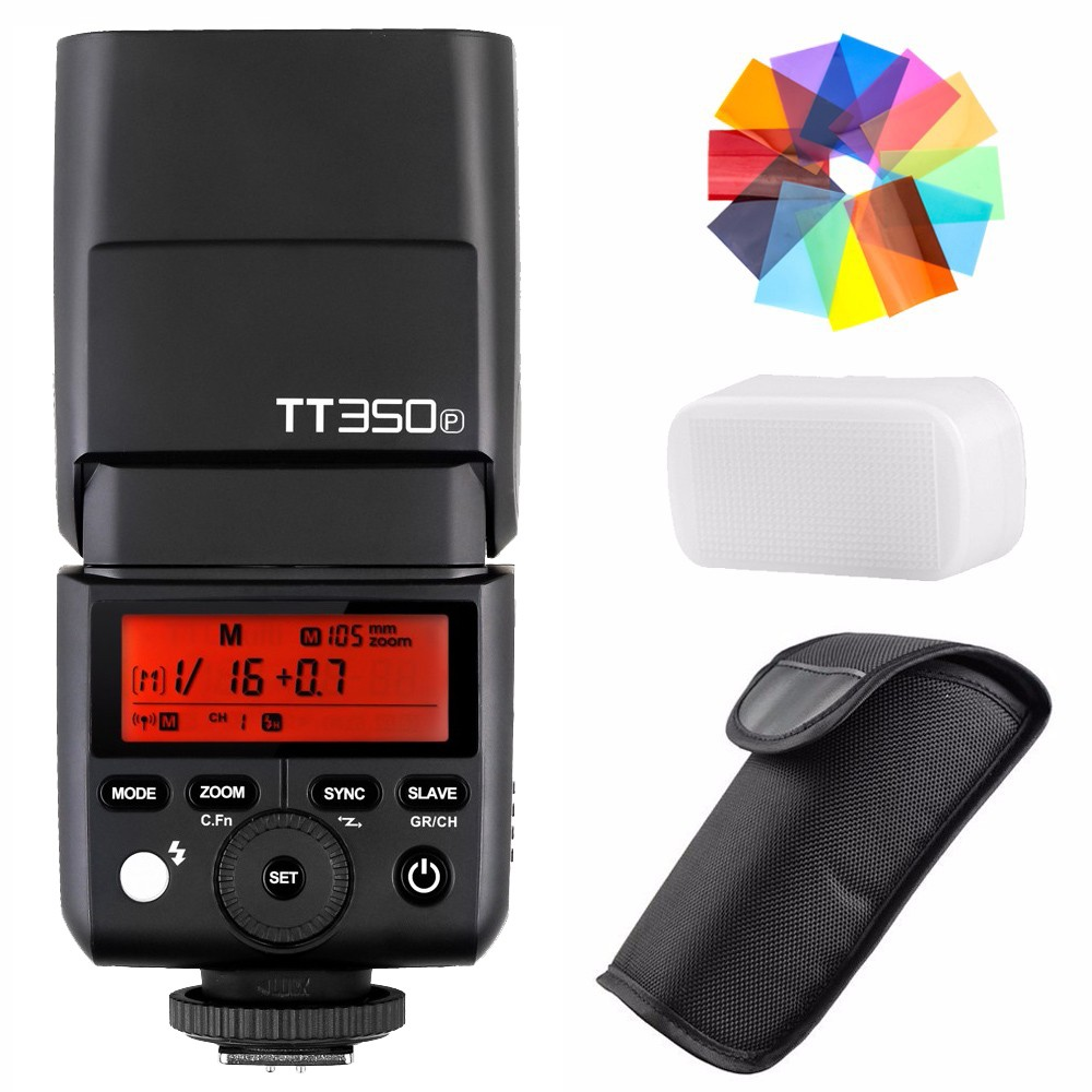Godox TT350P Thinklite 2.4G HSS 1/8000s TTL GN36 Camera Flash for Pentax 645Z K-3II K-1 KP K-50 K-S2 K70 Camera in stock godox new xpro xpro p triggers ttl 2 4g wireless 1 8000s hss triggers for pentax k 1 k 3ii k70 k50 k s2 cameras