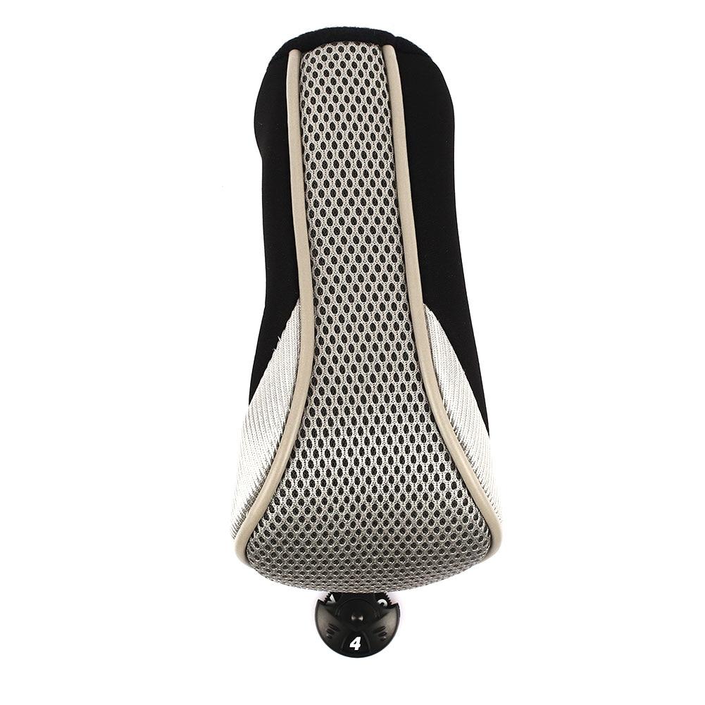 Воздухопроницаемая сетчатая головка для гольфа, чехлы для клюшек, Номера для гольф-клуба, защитный идентификационный чехол для головки клюшки для гольфа для спорта на открытом воздухе - Цвет: Gray