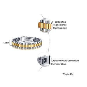 Image 4 - ZORCVENS 99.999% czysta bransoletka z germanu dla kobiet Korea popularne zdrowie magnetyczne germanu energii ze stali nierdzewnej biżuteria