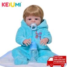 KEIUMI True To Life силиконовые куклы Reborn Baby 23 ''полностью виниловые Boneca Reborn Menino для малышей Playmates модные золотые волосы