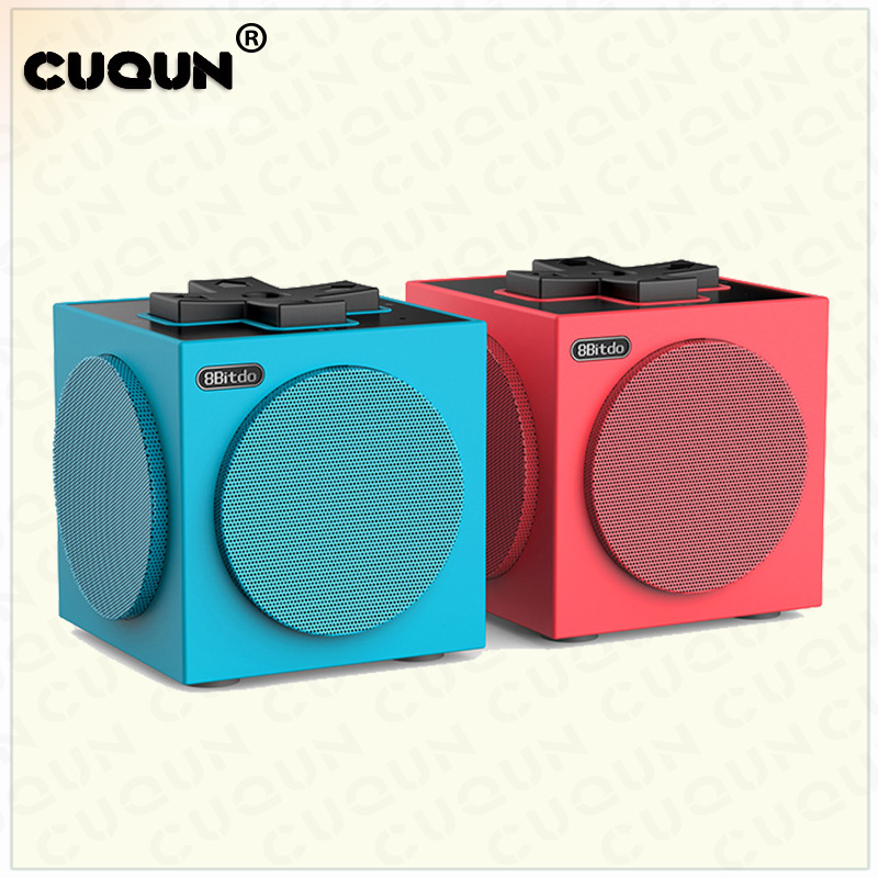 2018 NEW Bluetooth Stereo Speaker For Switch Mobile Phone Computer 2PCS=1 SET(Red & Blue) 2pcs blue