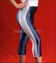 (LS54)Shiny Lycra Spandex Opaque Tights Unisex original Fetish Zentai Leggings Pants