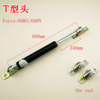 Free shipping 800mm central distance, 340 mm stroke, pneumatic Auto Gas Spring, Lift Prop Gas Spring Damper