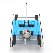Cool Creative DIY Assembled Tank Model Kit Gear Drive Toy Car Physical Science Experiment Educational Toys for Children Kids