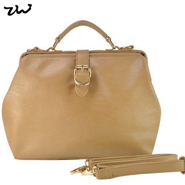 ZIWI Brand Autumn Women's Handbag Vintage Doctor Bag Women Messenger Bags Shoulder Handbags CT15148