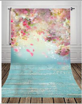 HUAYI 6x8ft Art fabric Flowers Backdrop Photography For Newborn Drop Background D-9923