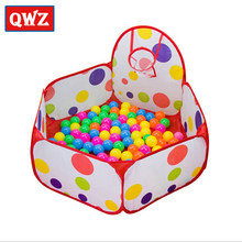 QWZ Foldable Outdoor Indoor Kids Game Play Toy Tent Outdoor Portable Ocean Ball Pit Pool High Quality Christmas Birthday Gifts(China)