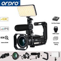 Ordro AC7 4K UHD Digital Video Cameras   Camcorders   FHD 24MP 120X Digtal Zoom 10X Optical WiFi IPS Touch screen DV Mini   Camcorders