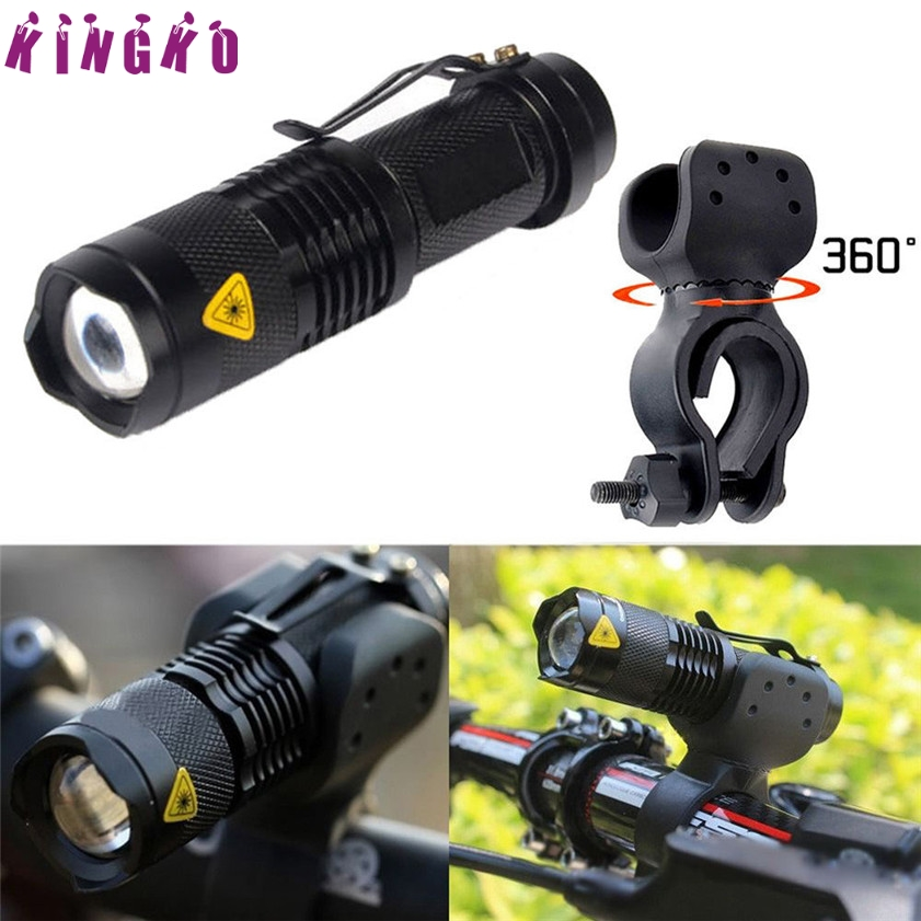 High Quality 1200lm Q5 LED Cycling Bike Bicycle Head Front Light Flashlight+360 Mount