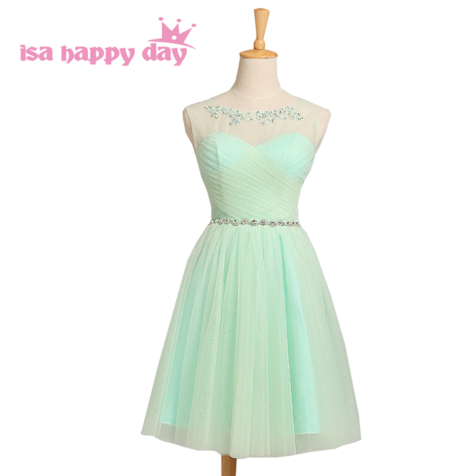 mint green all of party short design puff princess dress bridesmaid formal ivory girls dresses for bridesmaids sweetheart H2856