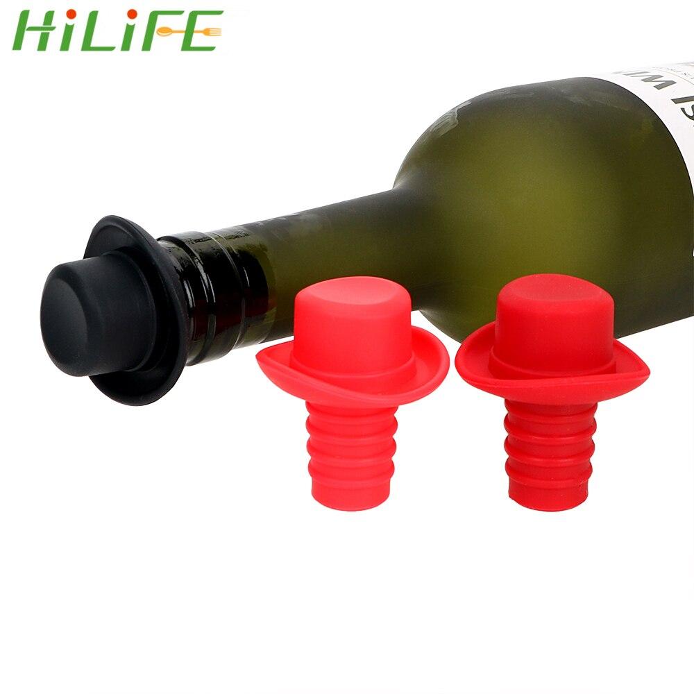 2Pcs Kitchen Useful Anti-lost Bottle Stopper Cork Hanging Button Cap Plug Tool