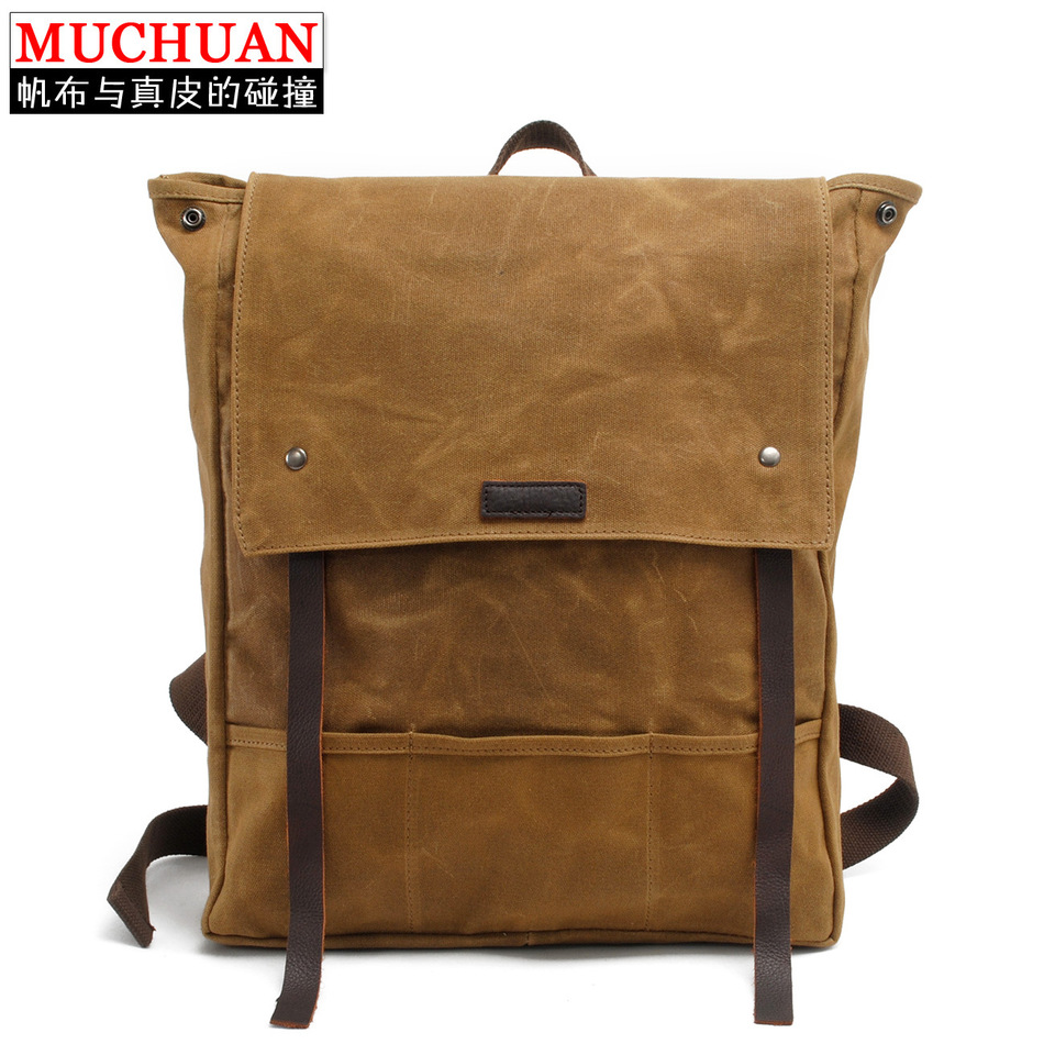 ФОТО Muchuan Batik Cloth Bag Both Shoulders Backpack Men And Women Restore Ways Package Student A Waterproof Tourism Travelling Bag
