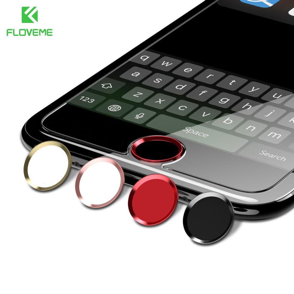 FLOVEME Button Cover Set For iPhone 7 6 6S Plus Home Button Sticker Fingerprint Unlock keypad