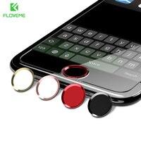 Floveme 버튼 커버 세트 아이폰 7 6 6 s 플러스 홈 버튼 스티커 지문 잠금 해제 키패드 keycap 아이폰 6 6 s 5 케이스