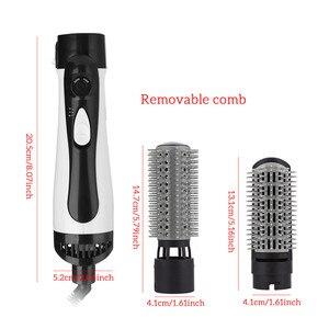 Image 3 - Профессиональный фен для волос 2 в 1 Расческа для горячего воздуха Улучшенный выпрямитель для волос расческа для волос щипцы для завивки стайлер большой волны щипцы