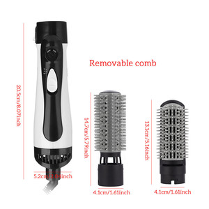 Image 3 - 2 in 1 Professional Hair Dryer Brush Straightner Curler Comb Styling Tool Hairdryer Curling Blower Dryer Hair Electric Wave
