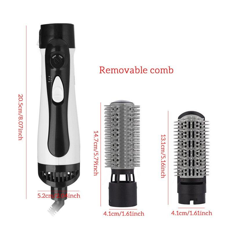 Image 3 - Professional 2 In 1 Hair Dryer Hot Air Brush Enhanced Hair Straightener Comb Brush Hair Curling Irons Styler Large Wave TongHair Dryers   -