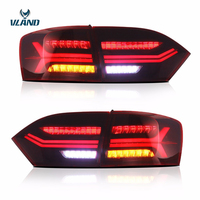 Vland Car Styling Tail Light For VW Jetta MK6 Taillight/Sagitar 2012 2014 Led Rear Lamp New Design Red Lens Assembly