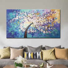 Hand Painted Canvas Oil Painting Wall Pictures Hand Painted palette knife For Living Room Wall Painting Flower wall art canvas hand painted silk wallpaper painting lotus with birds hand painted wall paper wallcovering many pictures backgrounds optional