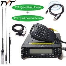 Tyt TH 9800 plus quad band estação de rádio do carro + antena/cabo 50 w transceptor th9800 vhf uhf rádio móvel walkie talkie para carro