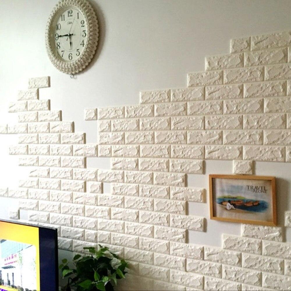 Quality White 3D Modern Design Brick Wallpaper Roll Vinyl Wall ...