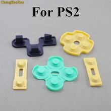 Chenghaoran 100x substituição almofadas condutoras de borracha silicone r2 l2 botões toques para playstation 2 controlador ps2 peças de reparo