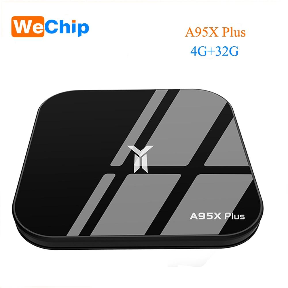 A95X Plus Smart TV Box 4GB Amlogic S905 Y2 Android 8.1 4GB DDR4 32GB ROM 2.4G / 5G WiFi USB3.0 BT 4.2 Soporte 4K HD Media Player 4k