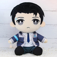 Stuffed Soft 30CM Detroit Become Human Plush Doll Toys For Children/Kids Connor Anime Plush Doll Toys Game Cosplay Sit Doll