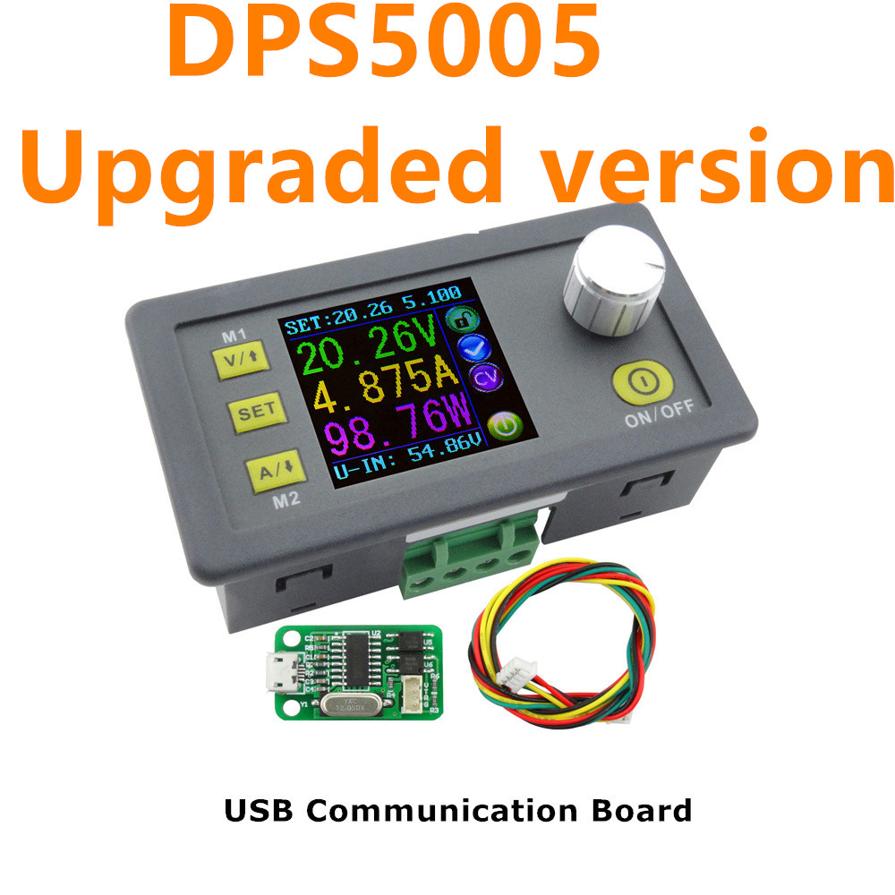 DPS5005 Communication Function Constant Voltage Current Step-down Programmable Power Supply Module Buck Color LCD 30%off dps5005 constant current step down programmable power supply module buck voltage converter color lcd display voltmeter 20% off