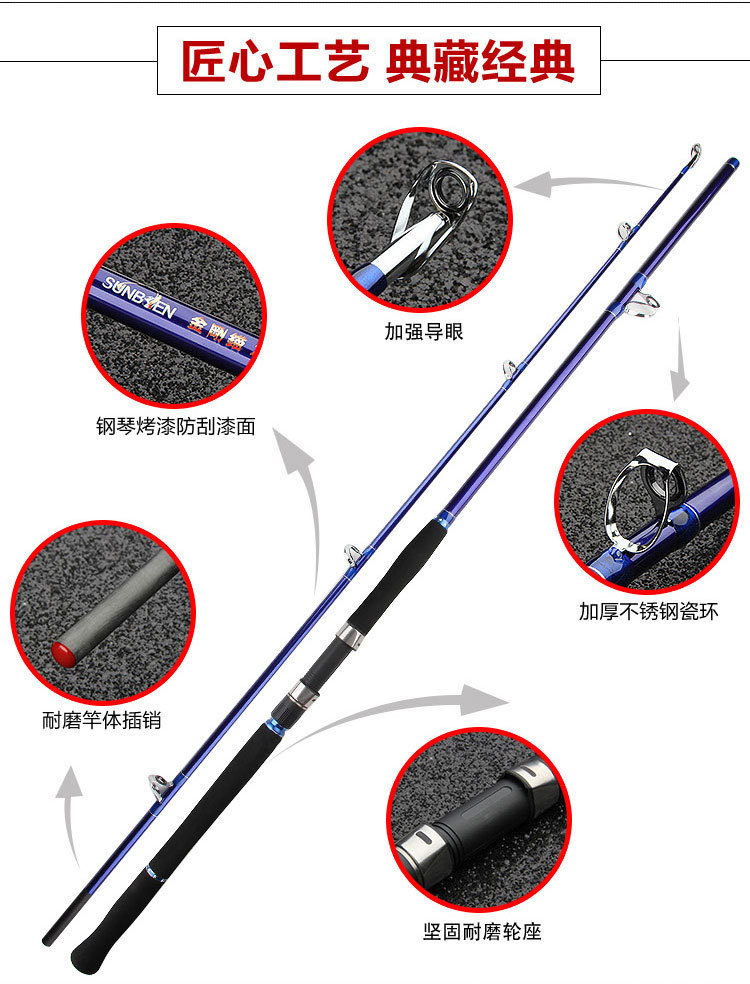 2018 UCOK 1.8/2.1/2.4/2.7M Diamond hard pure carbon powerful rod anchor long casting heavy jigging boat fishing rod