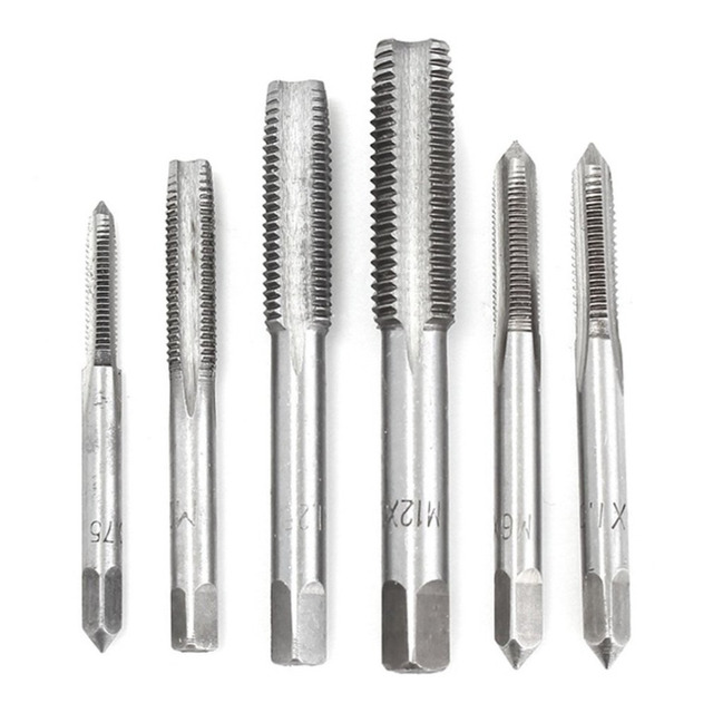 40pcs/Set Metric Tap Wrench Tip And Die Set M3-M12 Screw Thread Metric Plugs Taps Nut Bolt Alloy Metal Hand Tools