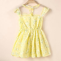 Kids Baby Girl Summer Casual Dress Cap Sleeve Lace Flower Party Short Dress 1-5Y