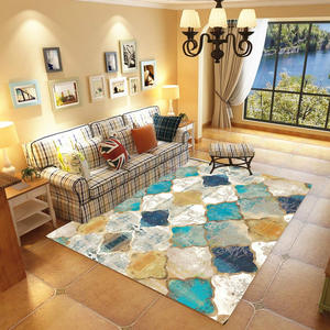 Moroccan Living Room Carpet Soft Anti-skid Ethnic Vintage Art Retro Persian Home Decor Area Rug Bedroom Floor Mat Room Mats