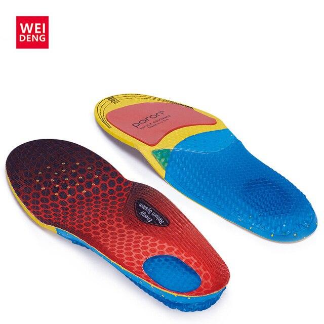EVA Silica Gel Men Insoles Shock Absorber Soft Silica Gel Comfortable Light Against Stench Breathable Sport Shoe Pad Mat