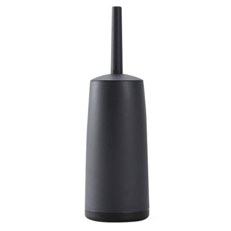 ABSS-Toilet Brushes And Holders Toilet Bowl Brush With Holder Black For Bathrooms Modern Design Toilet Brush With Lid Longe