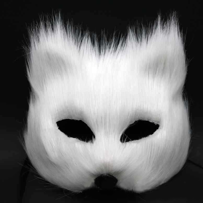 Magic Sexy Fox Face Women Mask Half Face Gray/Red/White Feather Masquerade Mask Festive Party Supplies Valentines Gift SD397