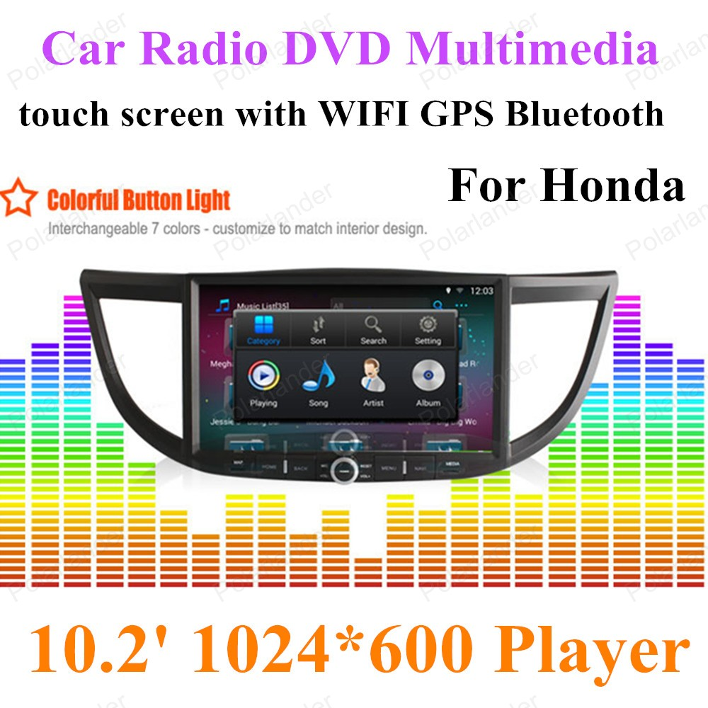 for Honda Crv with Navigation Multimedia Radio Bluetooth Player Support DVR 2G/16GB Wifi <font><b>HD</b></font> 1024*600 For Android Car Radio GPS image