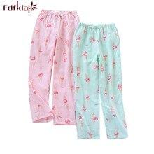 Fdfklak Casual trousers for women pajamas pant loose long sleep pant print women