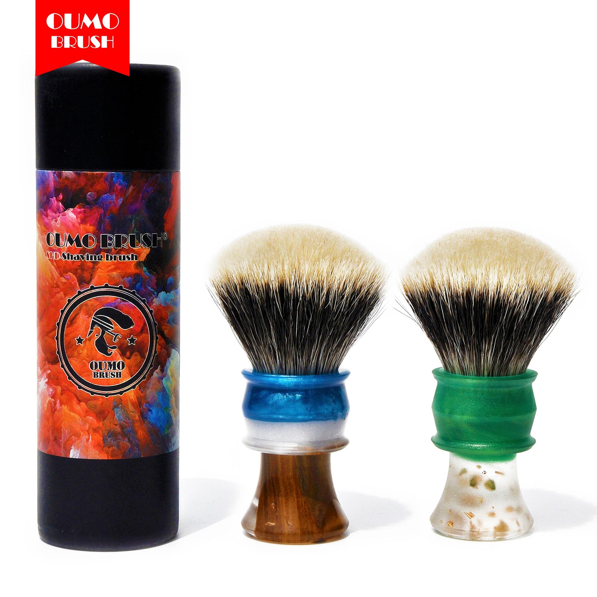 OUMO BRUSH-Art Shaving Brush Handle With SHD FAN Manchuria Badger Knot Gel City