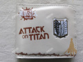 Anime Attack On Titan PU short wallet with wings of liberty sign&Rivaille/Levi